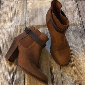 Madewell Brown leather booties. Sz 8